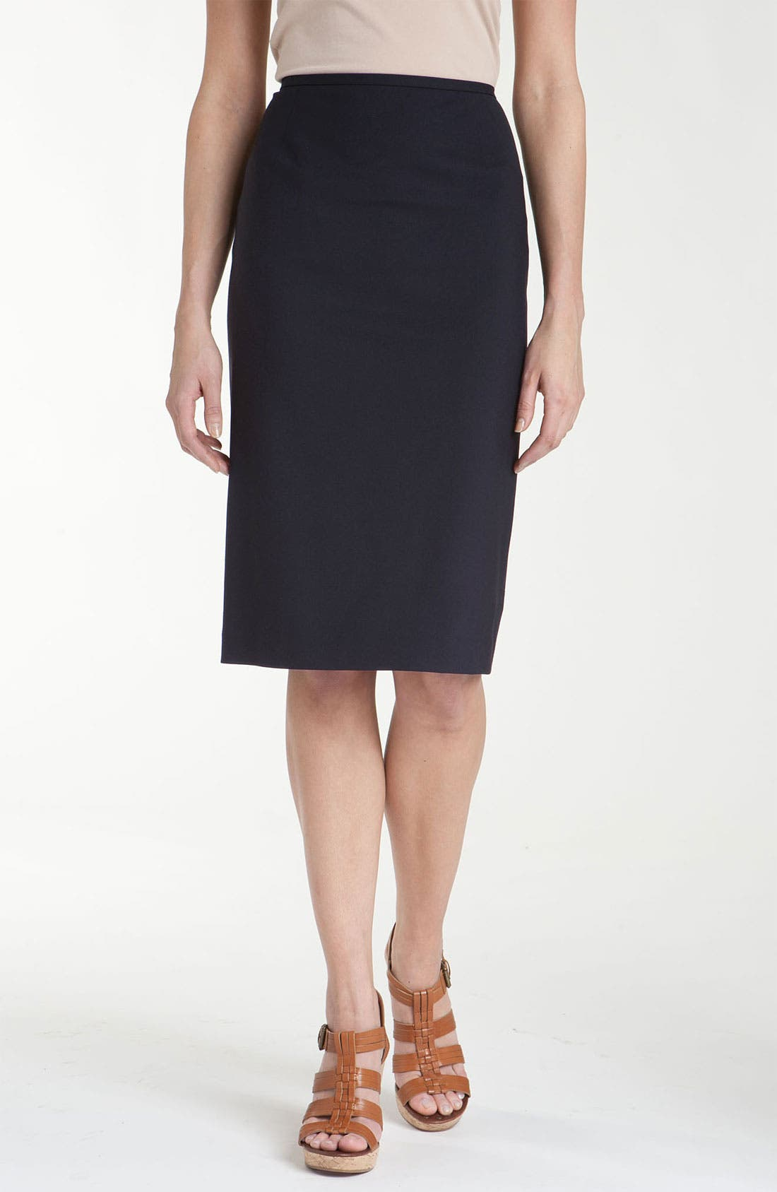 Main Image - Lafayette 148 New York Coat, Turtleneck & Skirt