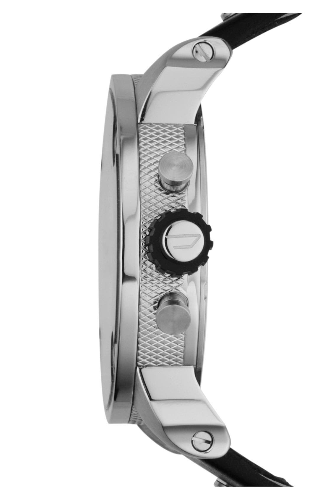 Alternate Image 3  - DIESEL® 'Little Daddy' Chronograph Leather Strap Watch, 51mm