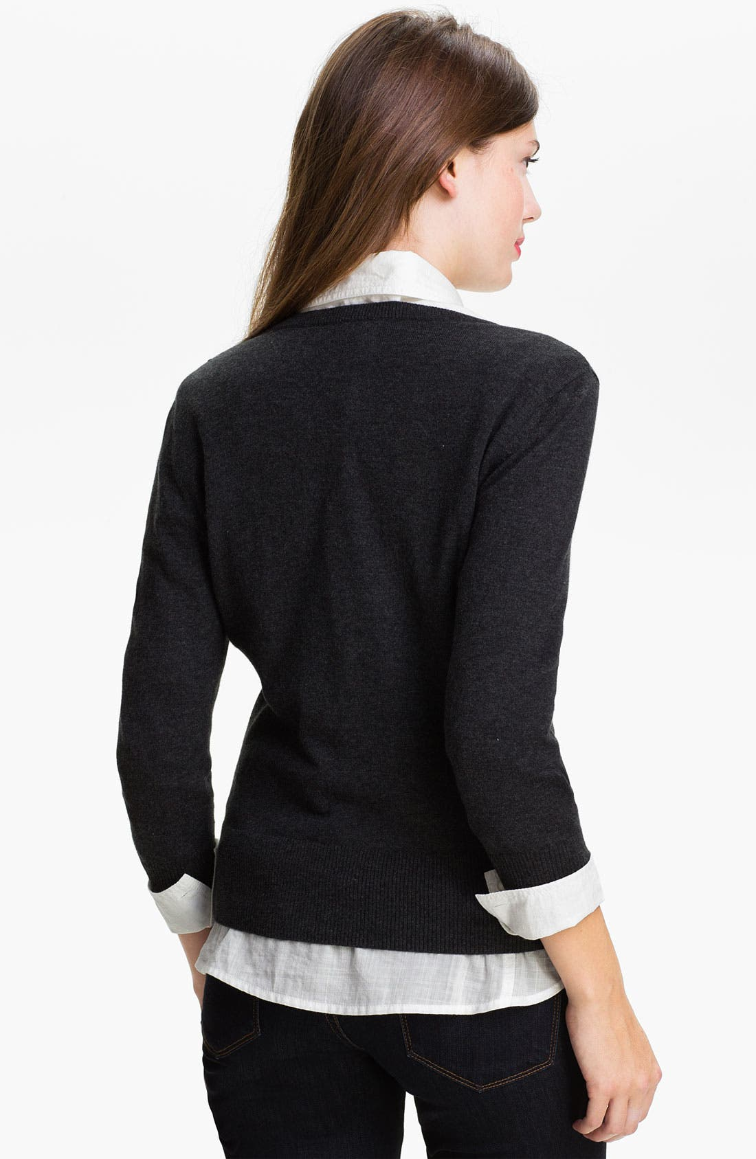 Alternate Image 2  - Halogen® Sequin Yoke Cardigan