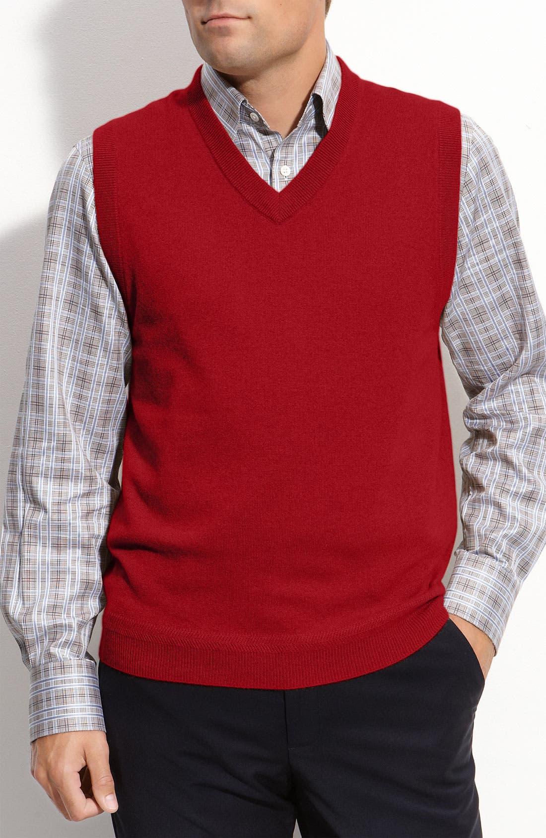Alternate Image 1 Selected - John W. Nordstrom® Cashmere Vest