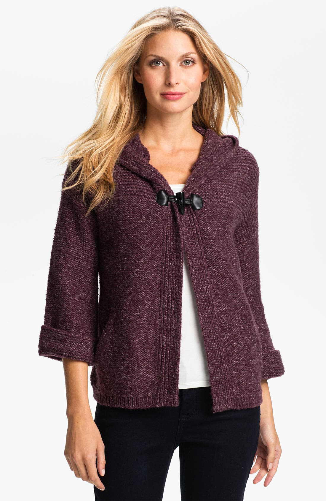 Alternate Image 1 Selected - Amber Sun Hooded Sweater Jacket