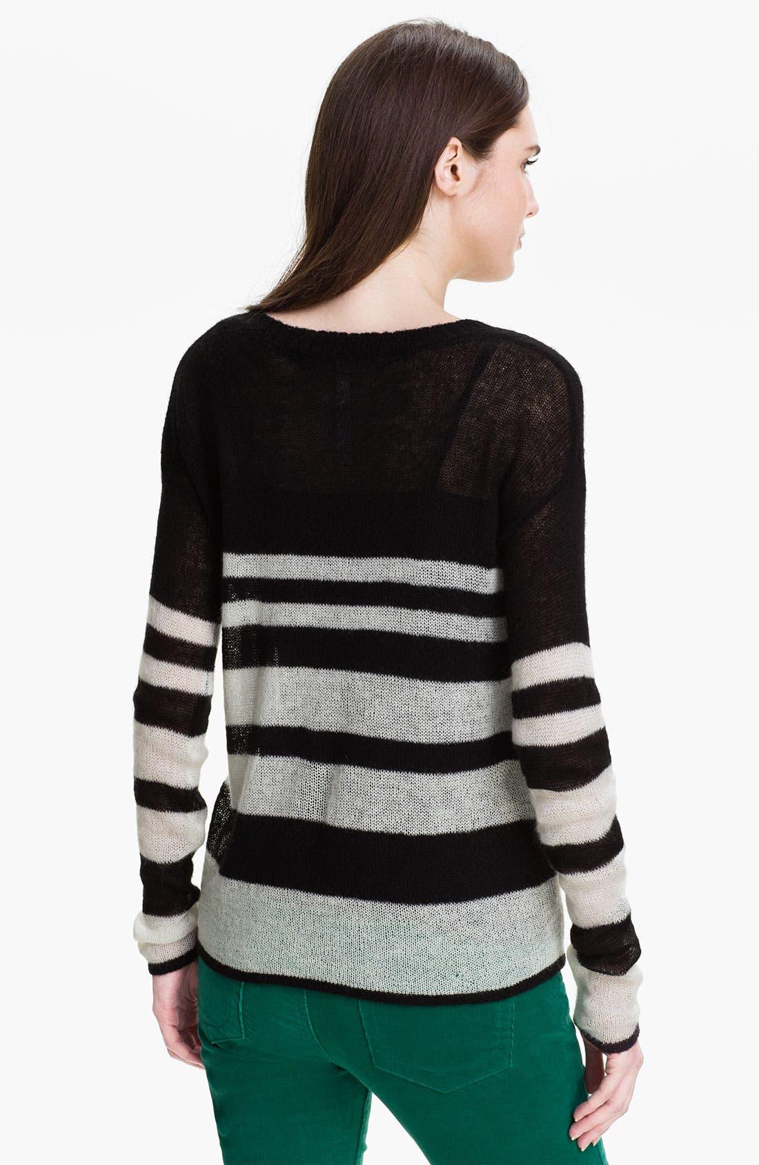 Alternate Image 2  - Kensie Stripe Sweater