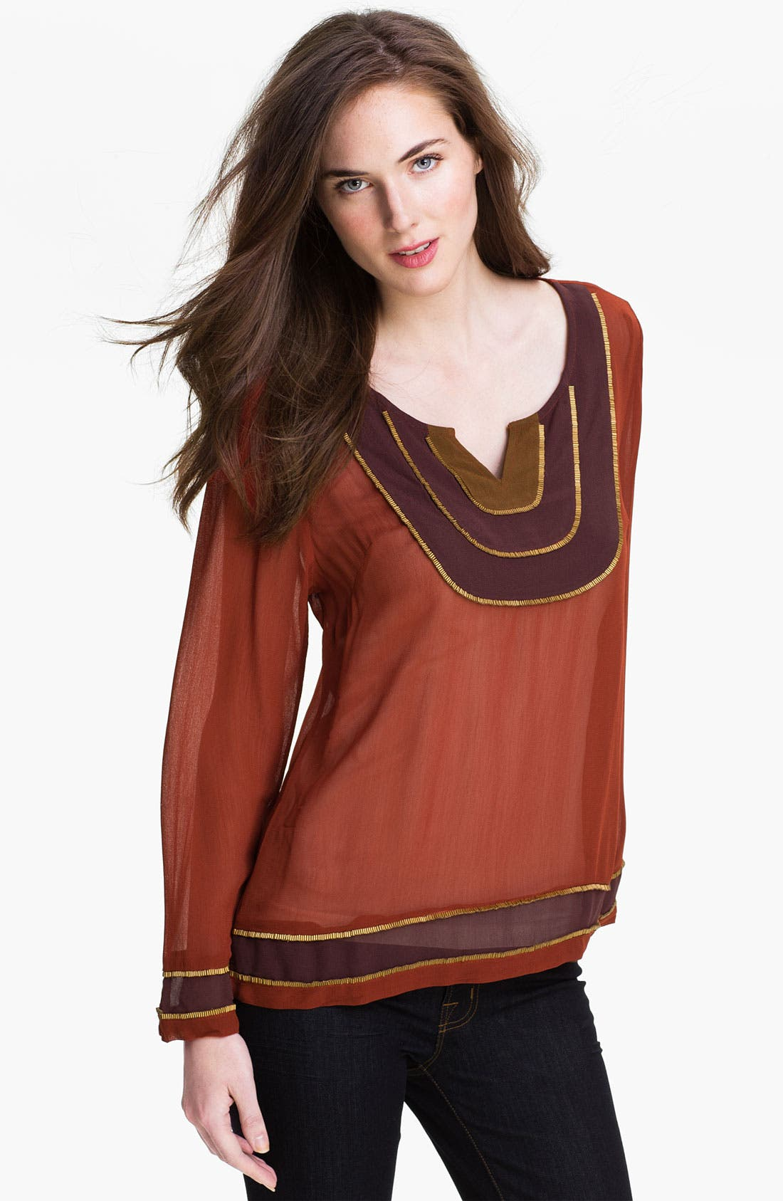Alternate Image 1 Selected - Lucky Brand 'Goa' Colorblock Tunic