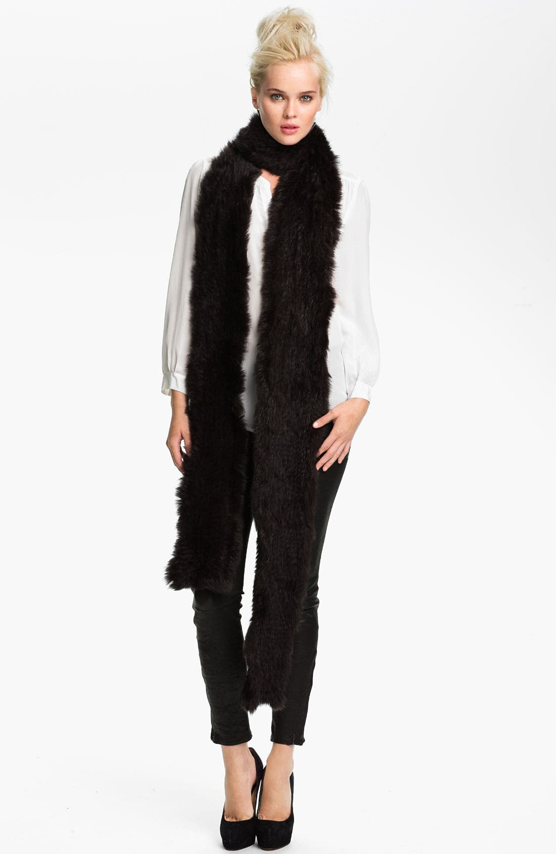 Alternate Image 1 Selected - Rachel Zoe Genuine Rabbit Fur Scarf