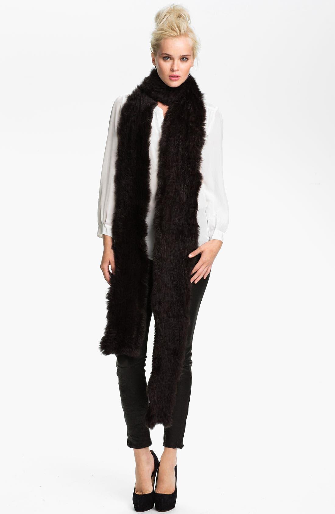 Main Image - Rachel Zoe Genuine Rabbit Fur Scarf