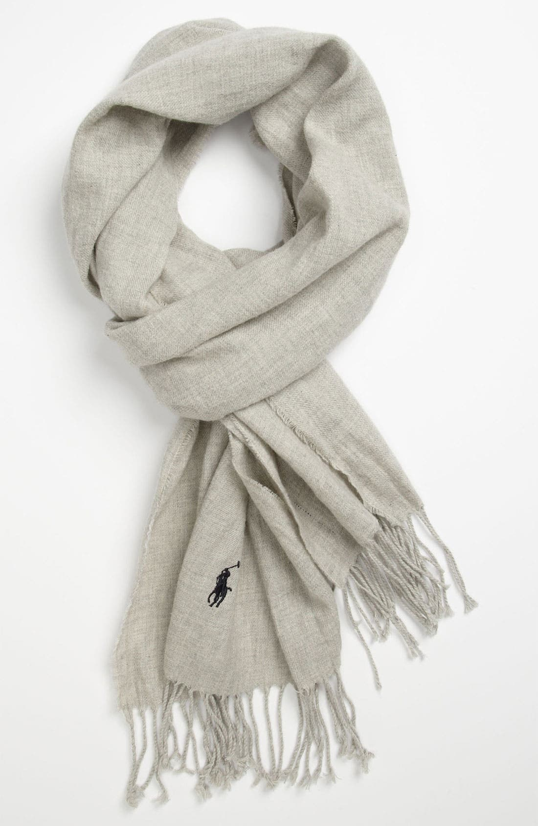 Main Image - Polo Ralph Lauren Peached Cotton Flannel Scarf