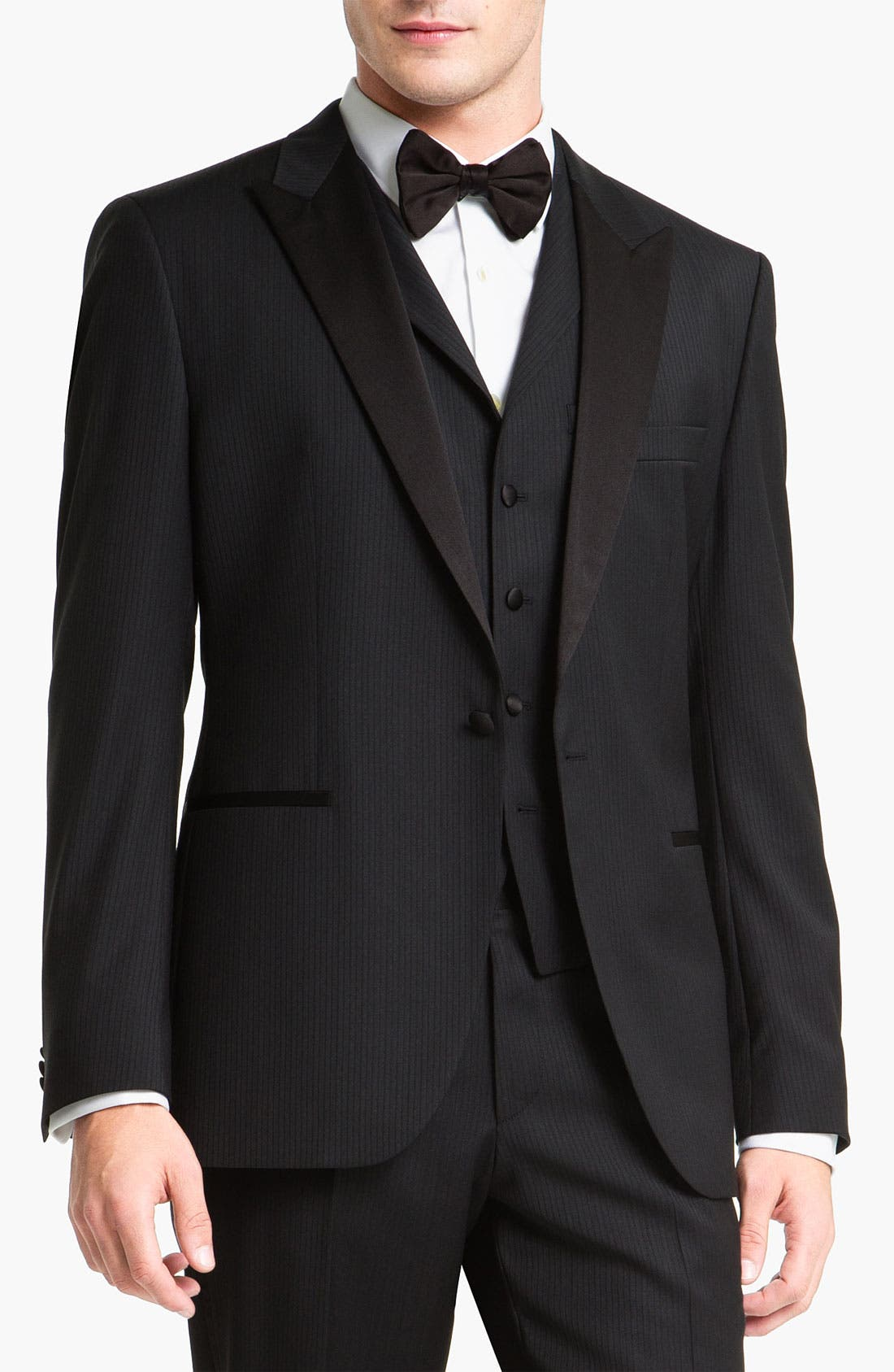 Alternate Image 1 Selected - BOSS Black 'The Joy/Gala' Trim Fit Stripe Tuxedo