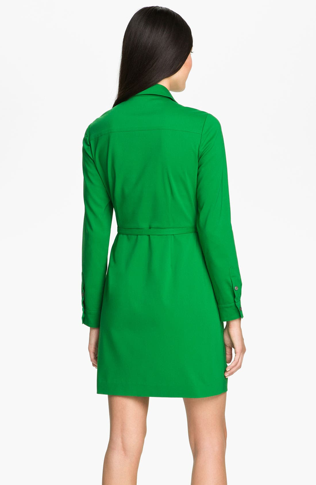 Alternate Image 2  - Vince Camuto Roll Sleeve Shirtdress (Petite)