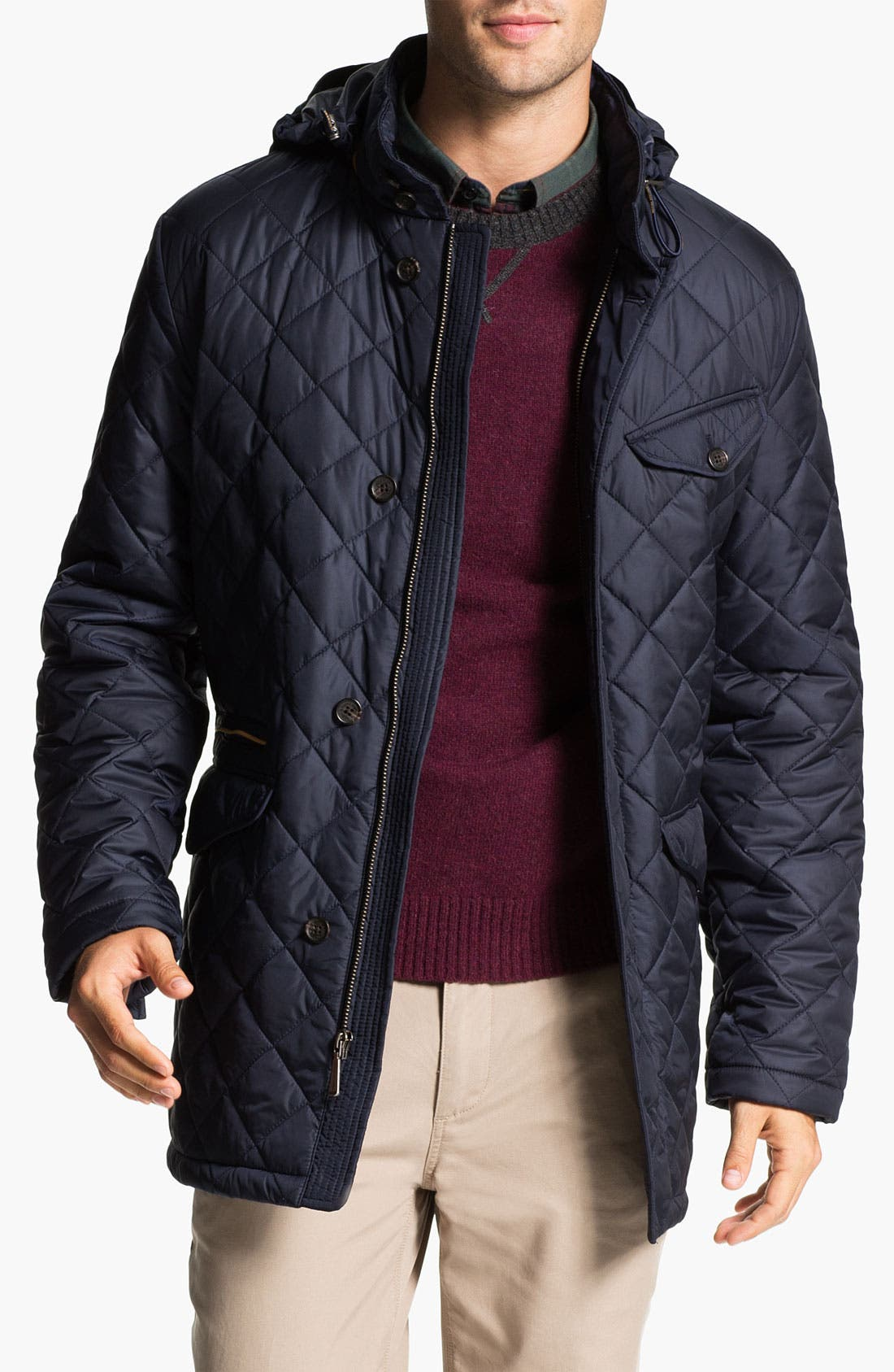 Alternate Image 1 Selected - Brooks Brothers Quilted Walking Jacket