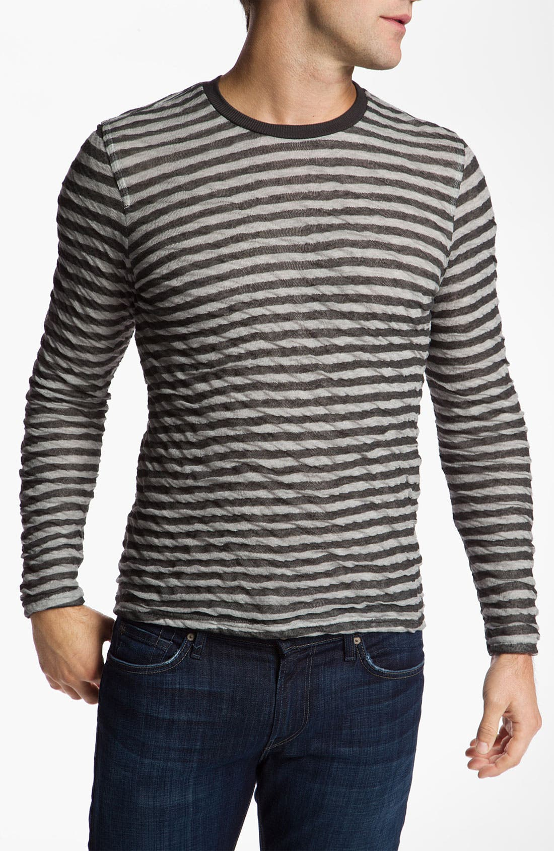 Alternate Image 1 Selected - 7 For All Mankind® Crinkle Striped Shirt