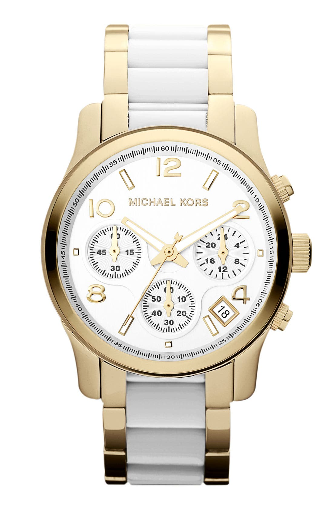 Main Image - Michael Kors 'Runway' Chronograph Bracelet Watch, 38mm