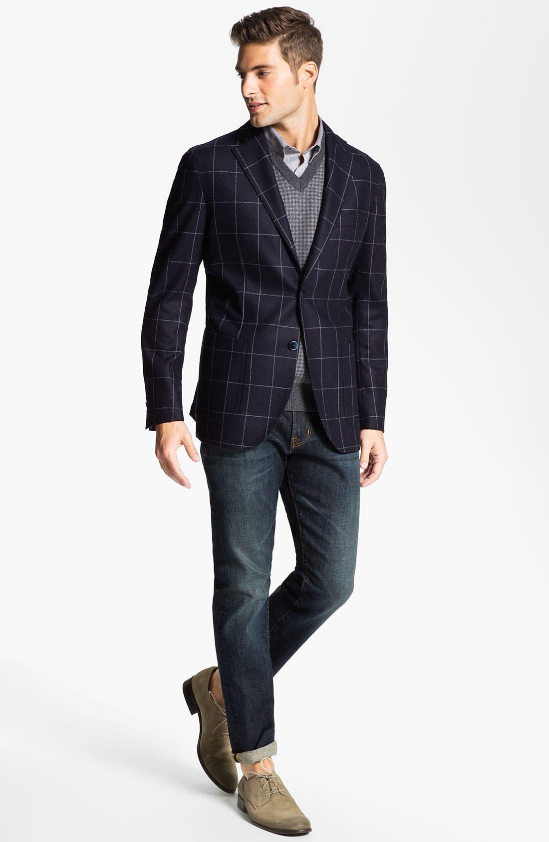 Alternate Image 4  - Franco Danti V-Neck Wool Sweater Vest
