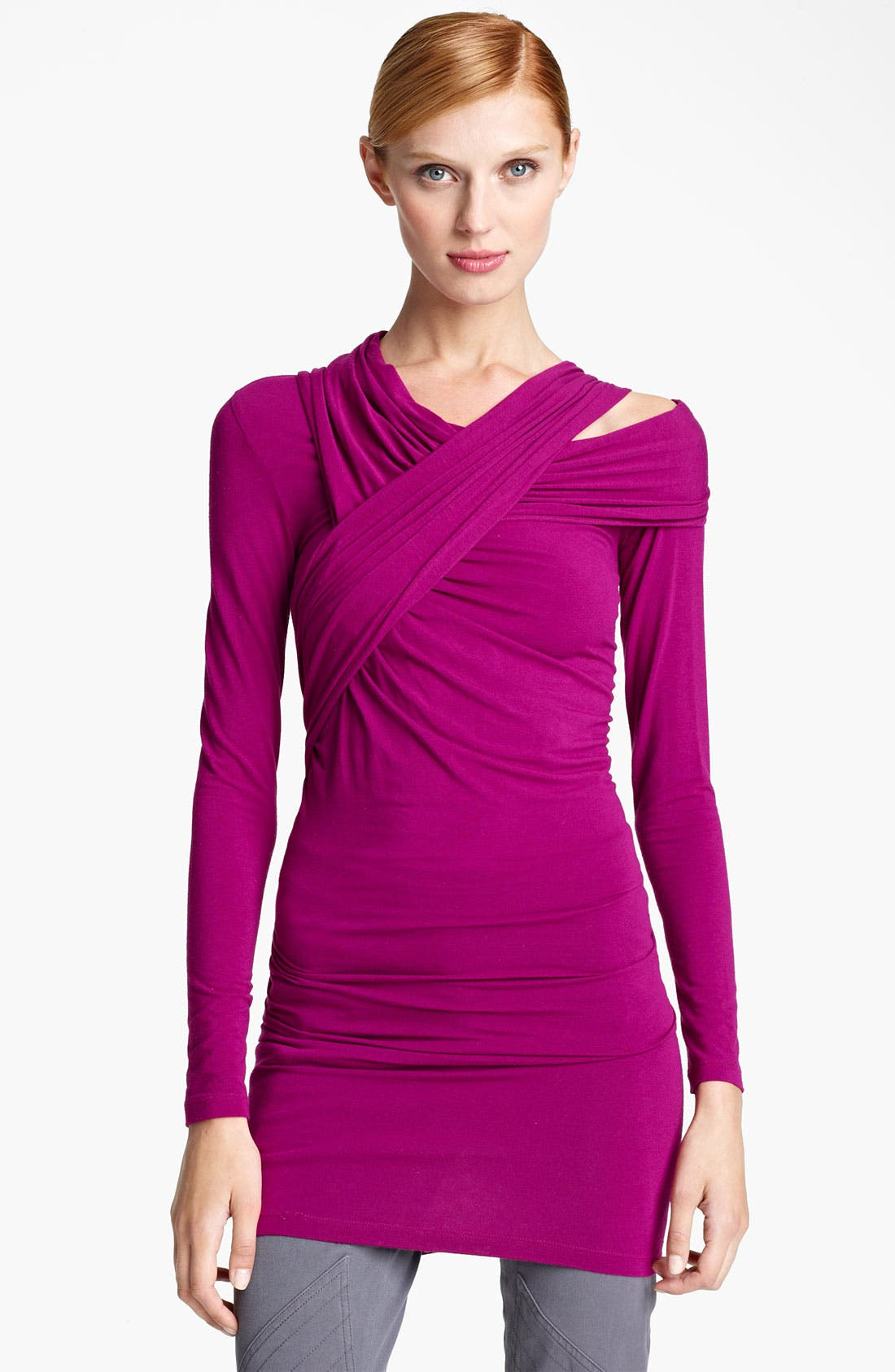 Main Image - Donna Karan Collection Cold Shoulder Jersey Tunic
