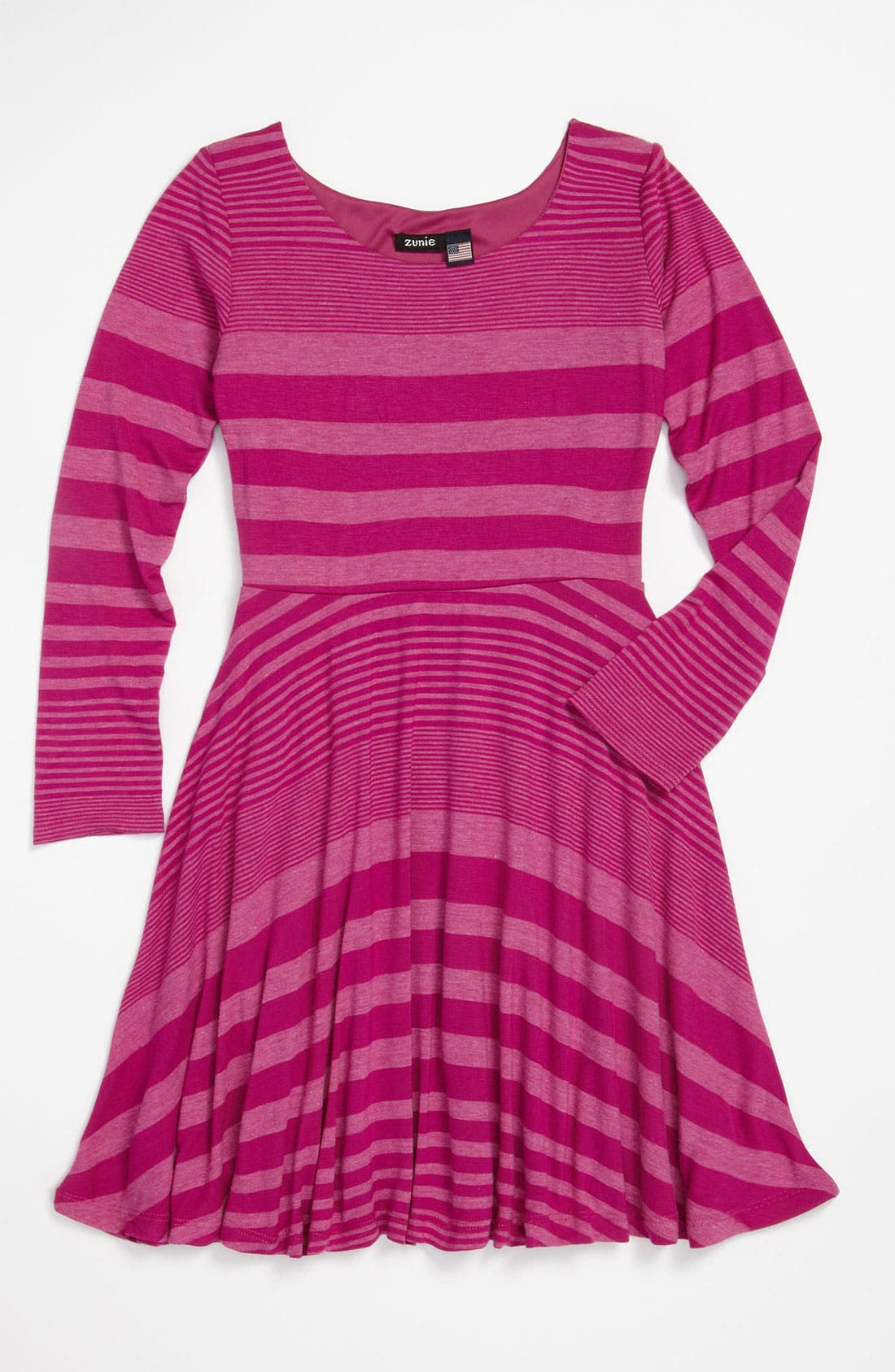Alternate Image 1 Selected - Zunie Stripe Knit Dress (Little Girls & Big Girls)