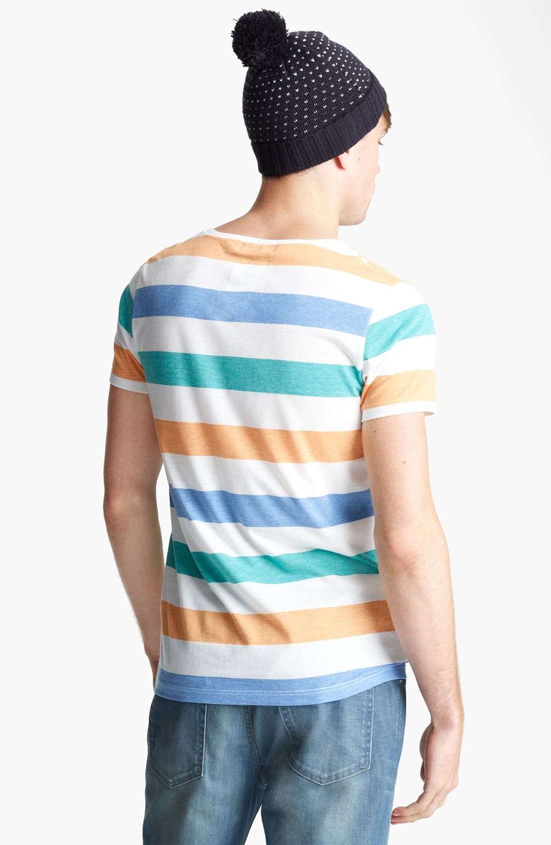 Alternate Image 2  - Topman 'Regatta Rainbow' Crewneck T-Shirt
