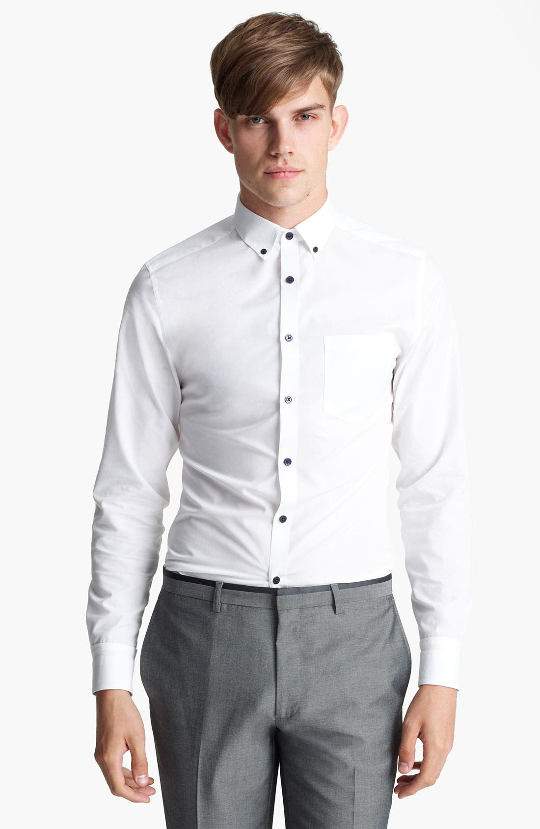 Main Image - Topman Contrast Button Dress Shirt