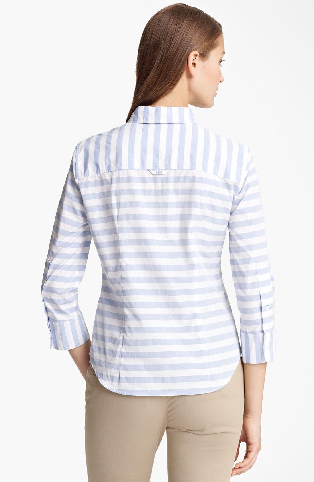 Alternate Image 2  - Band of Outsiders Stripe Silk Shirt