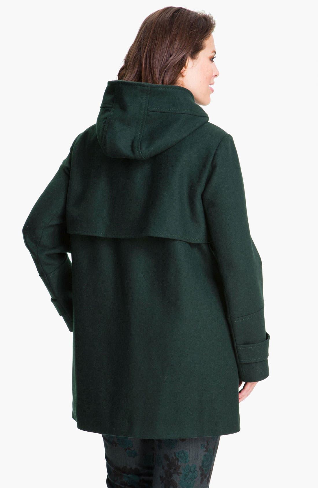 Alternate Image 2  - Vince Camuto Wool Blend Jacket with Detachable Hood (Plus)