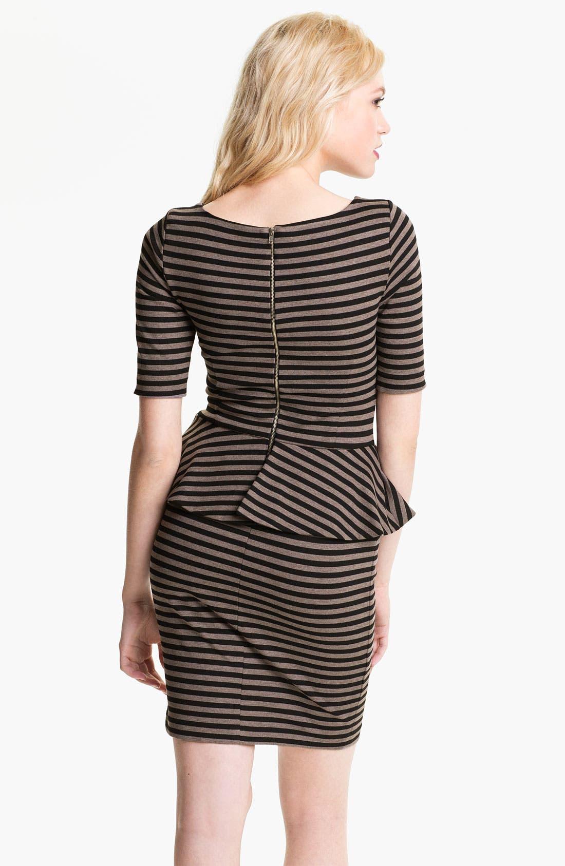 Alternate Image 2  - Ella Moss 'Emily' Stripe Peplum Dress