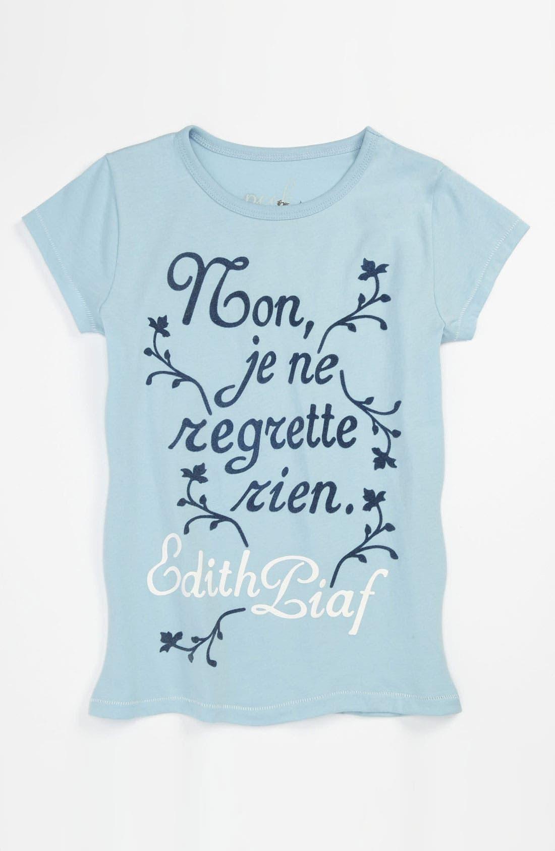 Alternate Image 1 Selected - Peek 'Piaf' Tee (Toddler, Little Girls & Big Girls)
