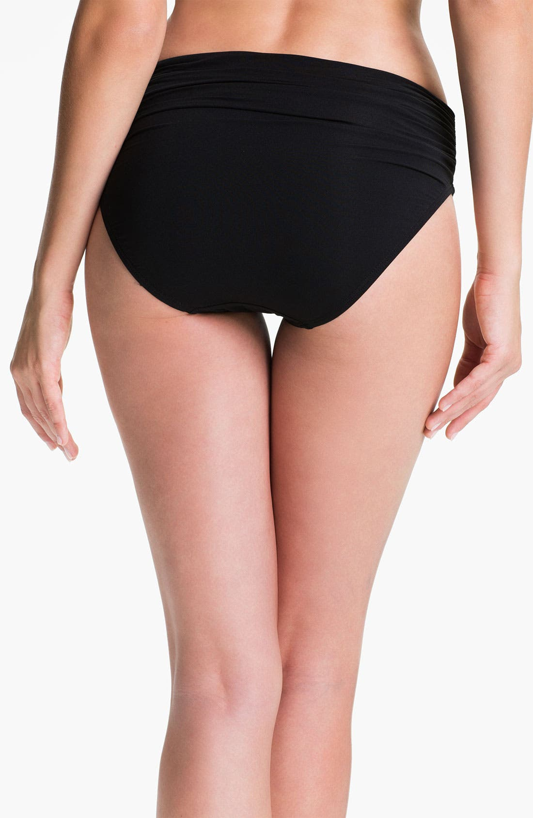 Alternate Image 2  - Carmen Marc Valvo Shirred Bikini Bottoms