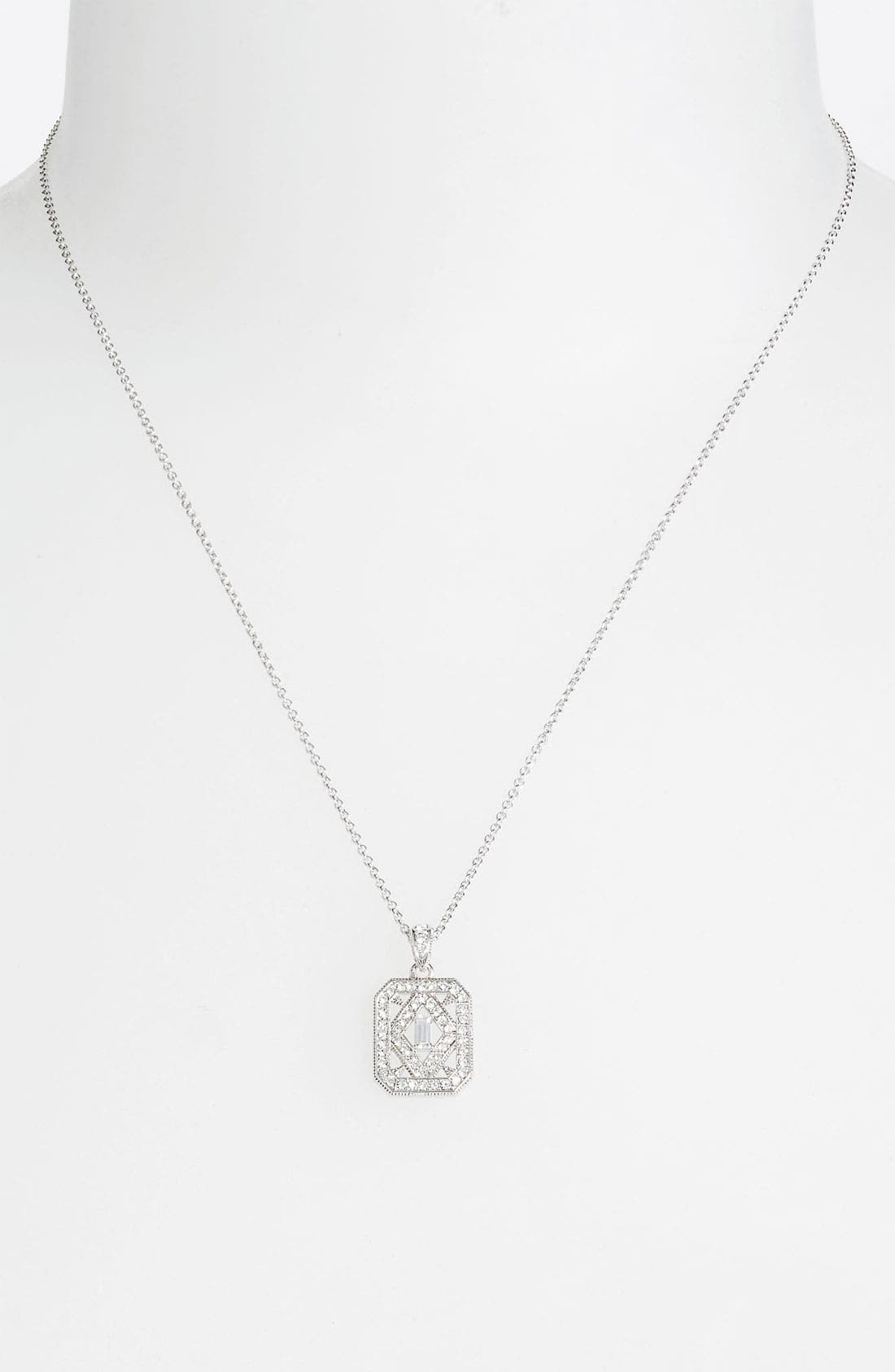 Alternate Image 1 Selected - Nadri 'Art Deco' Pendant Necklace