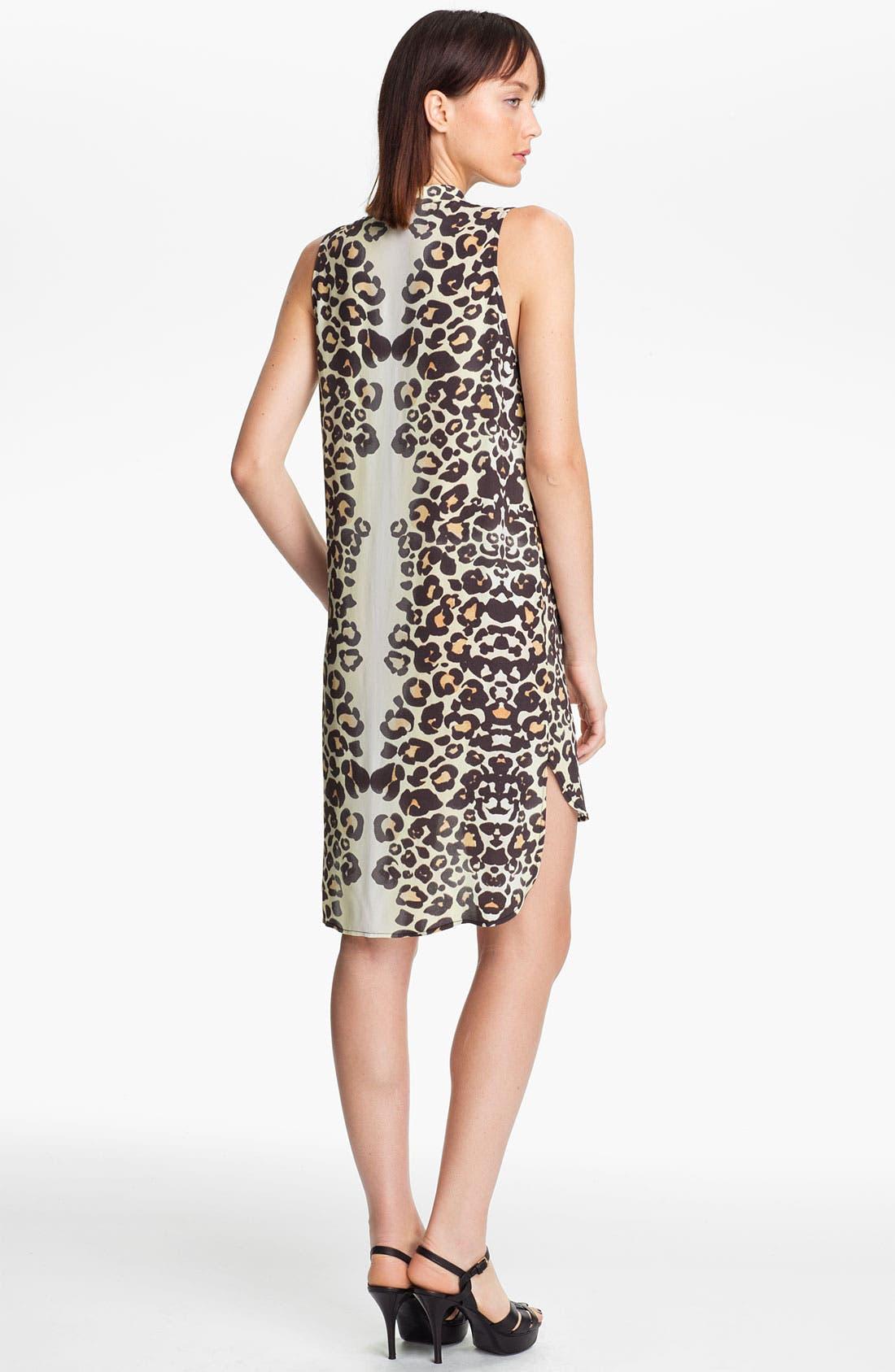 Alternate Image 2  - Mara Hoffman Leopard Print Shirtdress