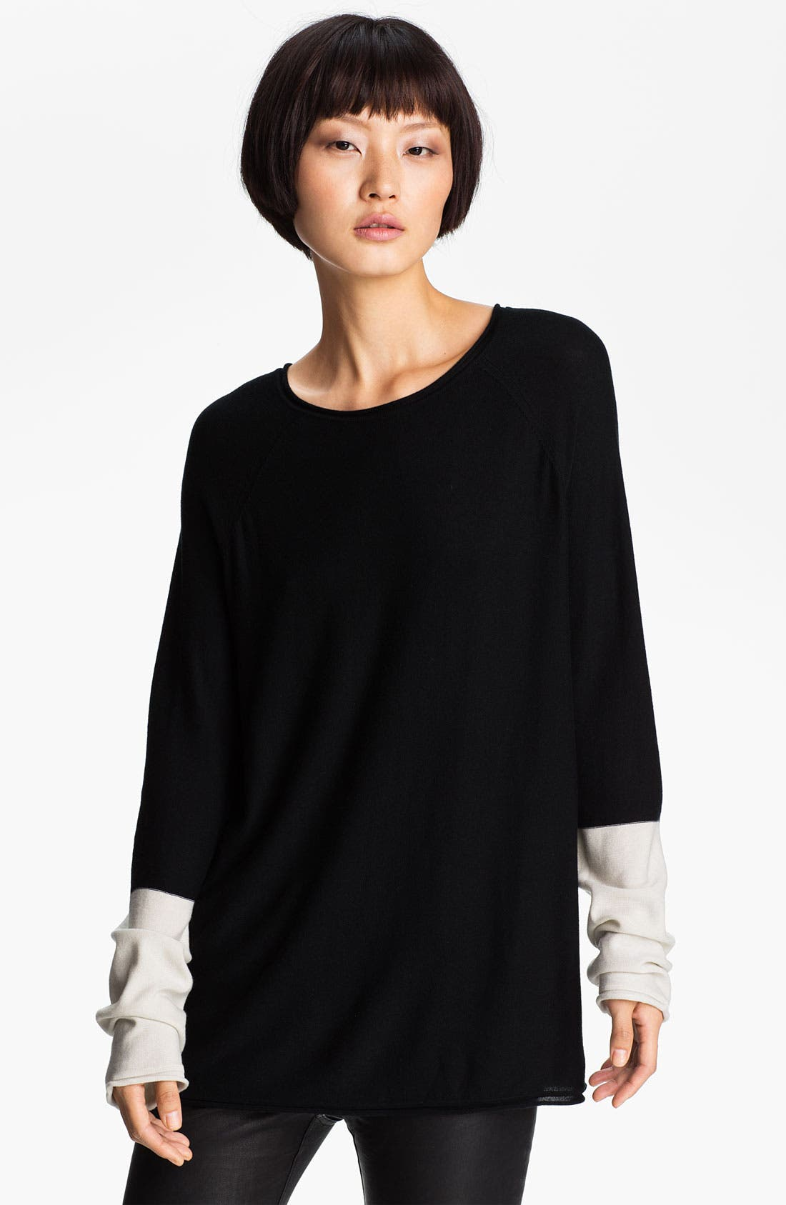 Alternate Image 1 Selected - T by Alexander Wang Colorblock Pullover