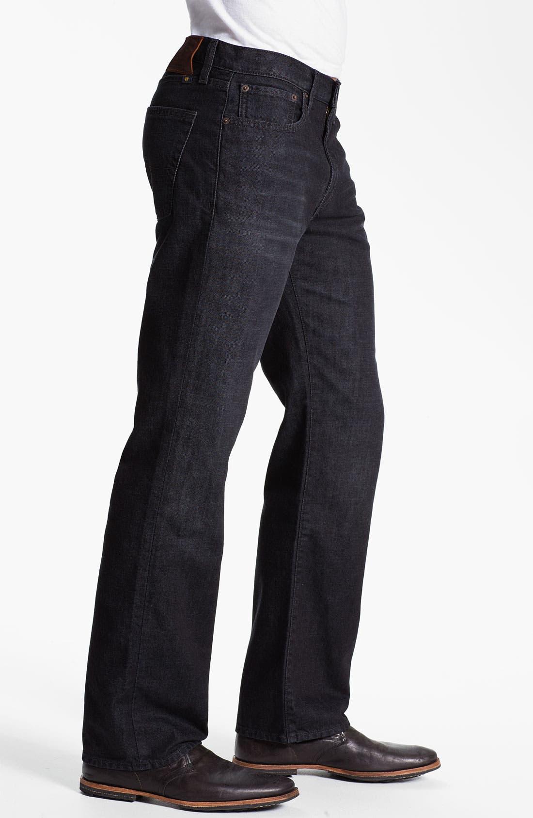 Alternate Image 3  - Lucky Brand Straight Leg Jeans (Dark Sumner)