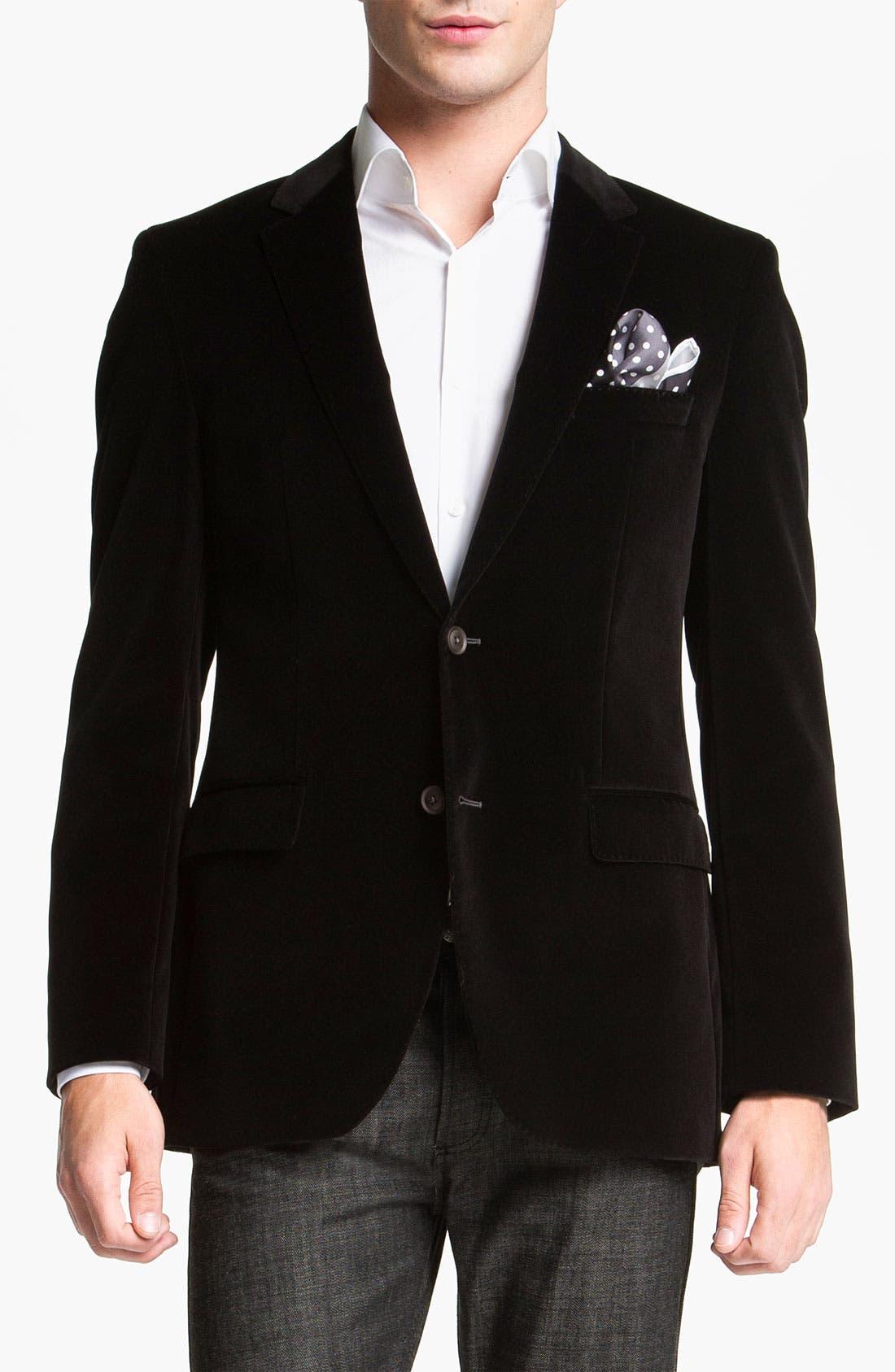 Alternate Image 1 Selected - BOSS Black 'Keys' Velvet Blazer