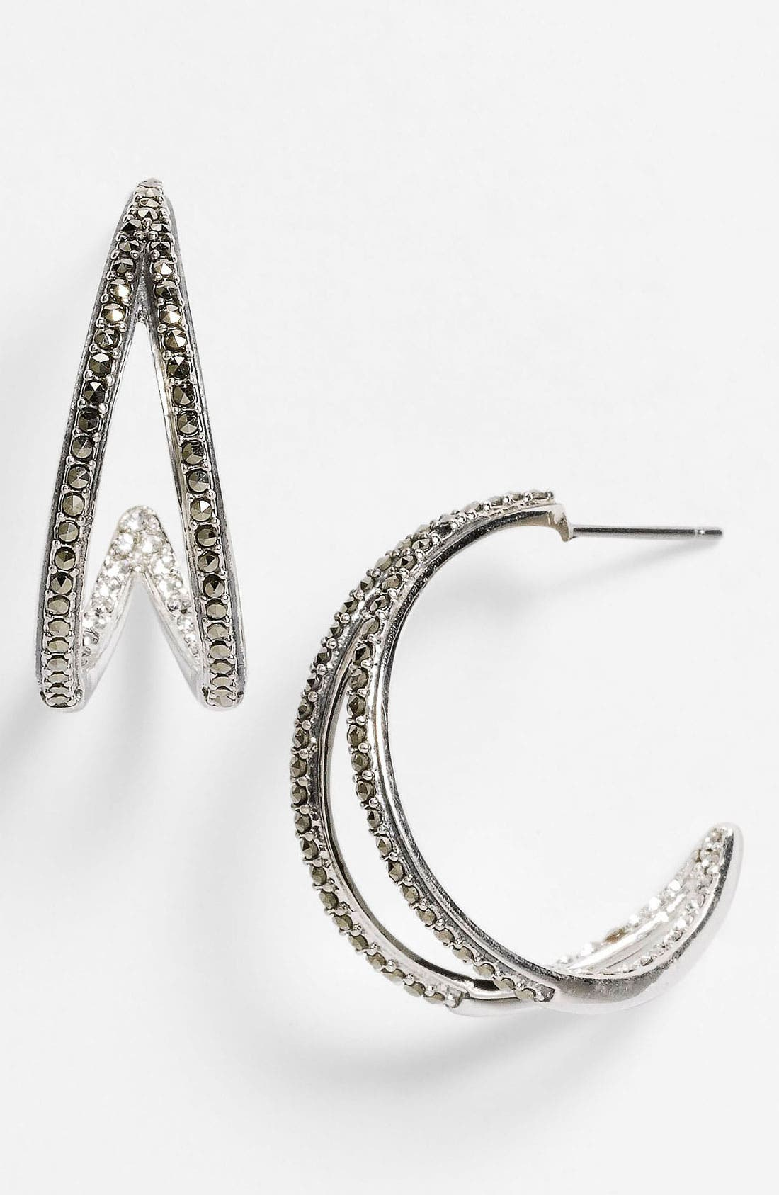 Alternate Image 1 Selected - Judith Jack 'Crystal Glitz' Hoop Earrings