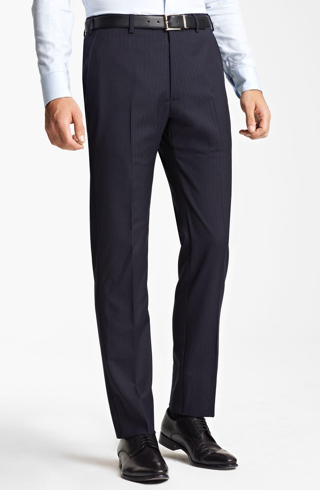 Alternate Image 4  - Armani Collezioni Trim Fit Stripe Suit