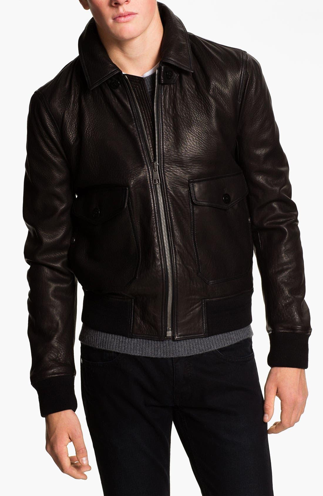 Main Image - Burberry Brit Leather Moto Jacket