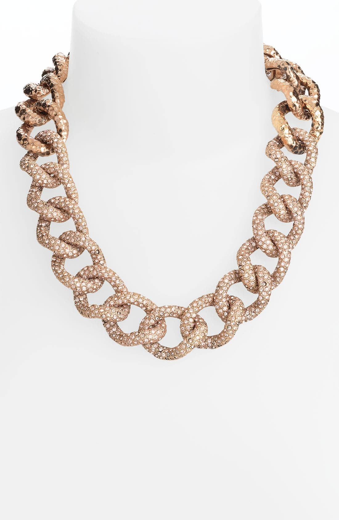 Alternate Image 1 Selected - St. John Collection Antique Rose Gold & Crystal Necklace