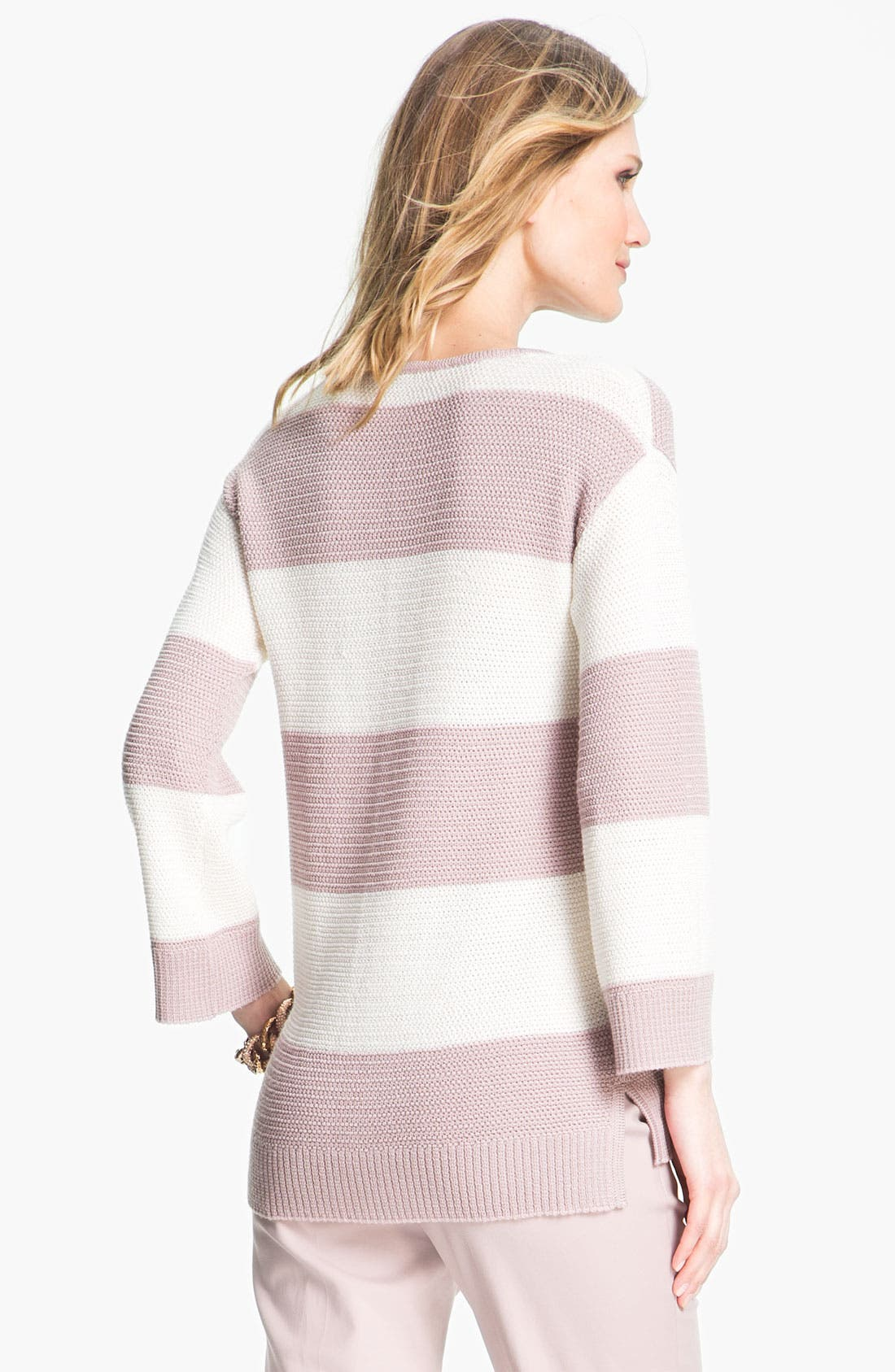 Alternate Image 3  - St. John Yellow Label Stripe Ottoman Knit Sweater