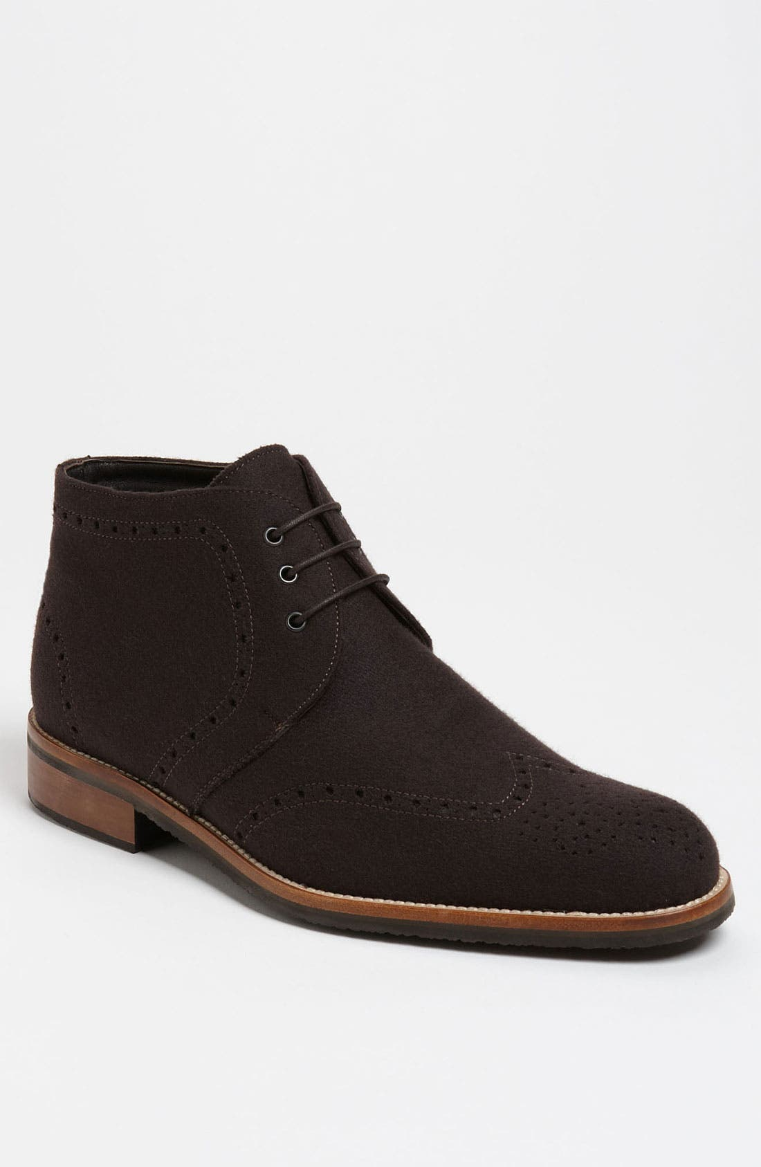 Main Image - Thomas Dean Wool Wingtip Chukka Boot