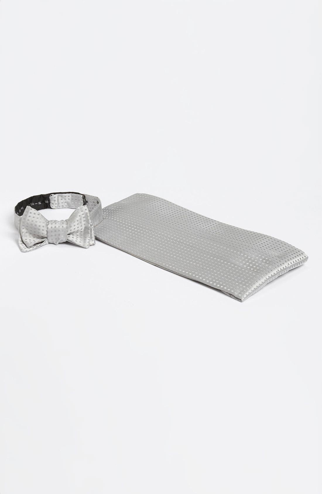 Alternate Image 1 Selected - David Donahue Cummerbund & Bow Tie