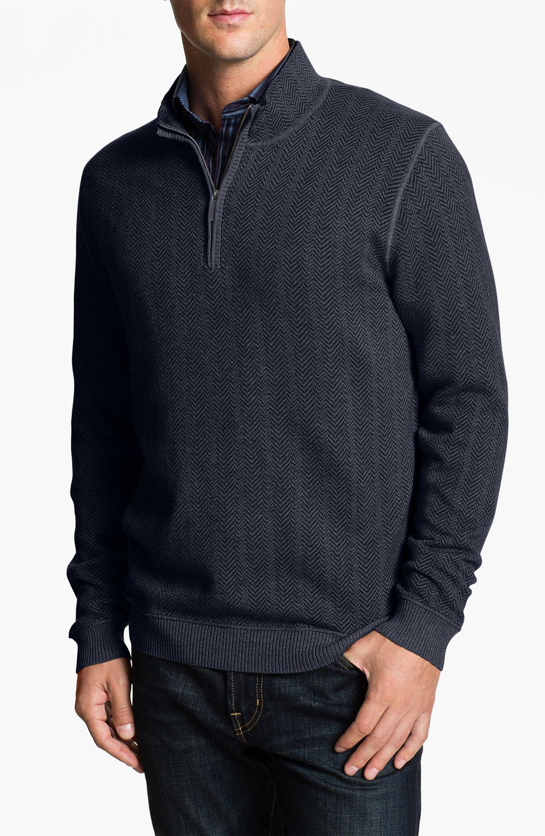 Alternate Image 1 Selected - Tommy Bahama 'High Season' Half Zip Sweater