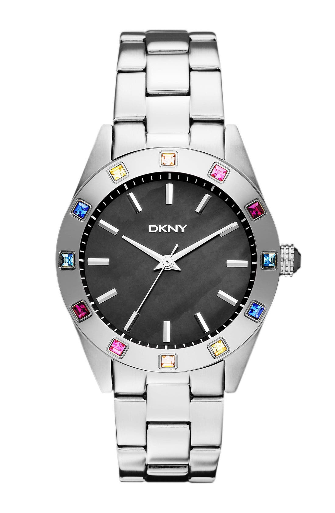 Alternate Image 1 Selected - DKNY Carousel Crystal Bezel Bracelet Watch