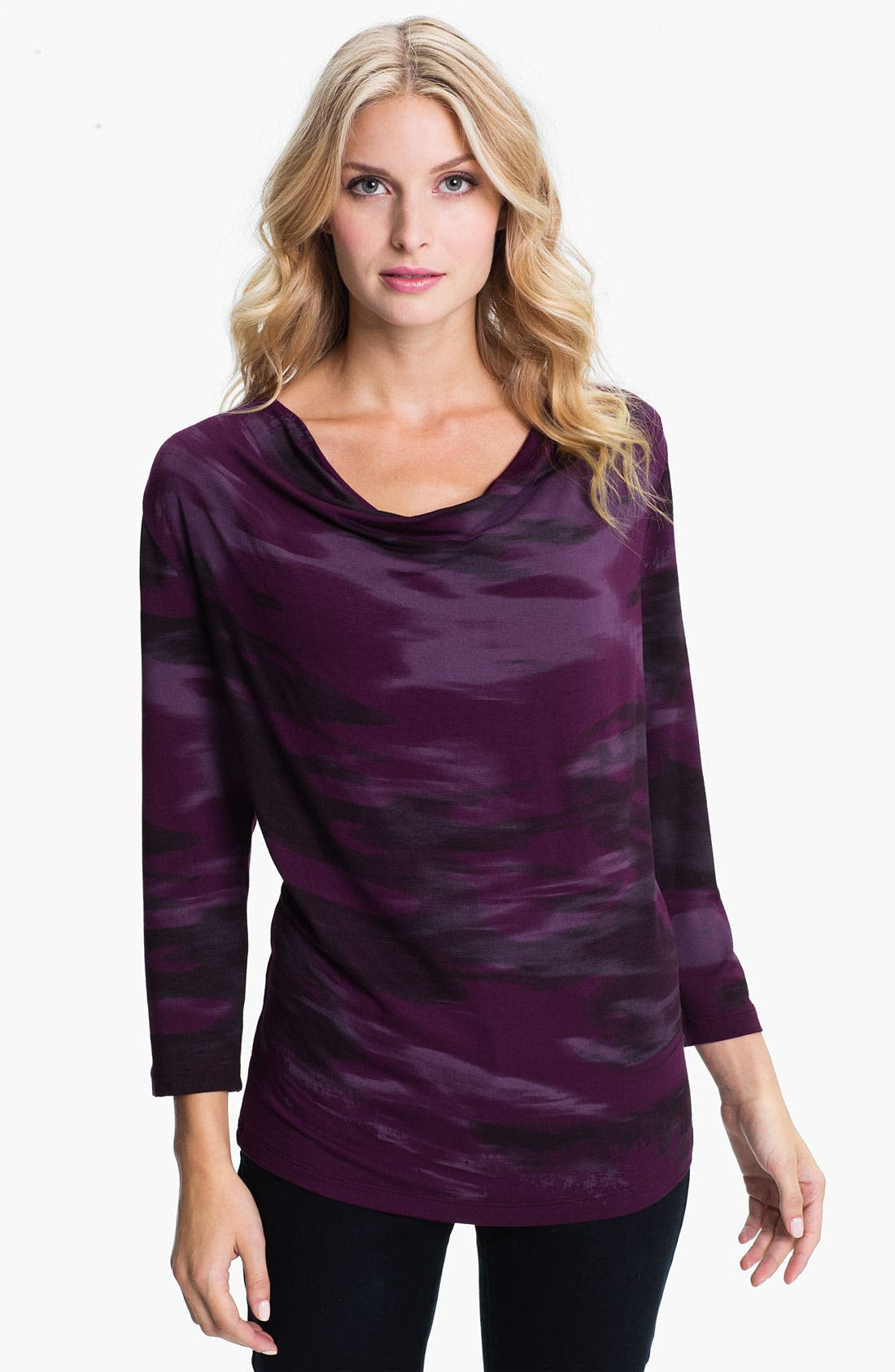 Main Image - Edista Drape Neck Top
