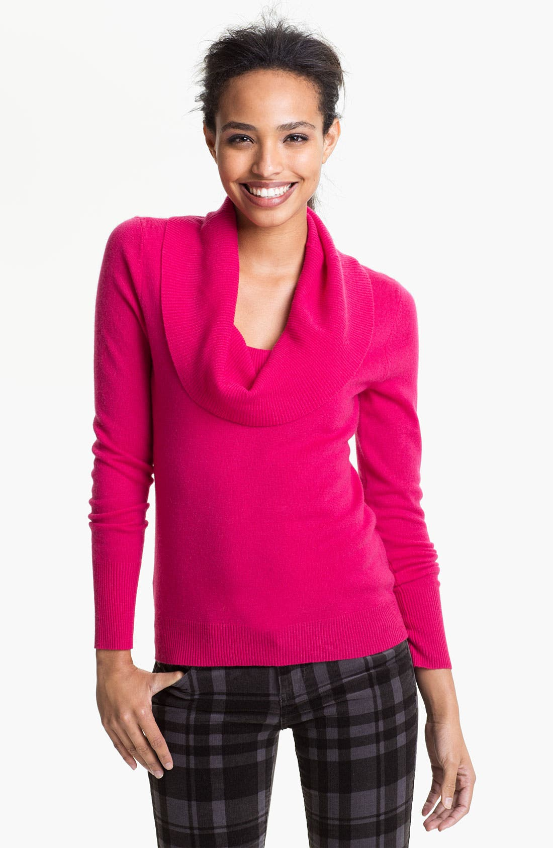 Alternate Image 1 Selected - Halogen® Cowl Neck Cashmere Sweater