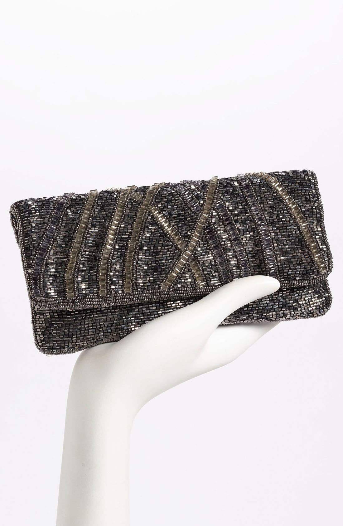 Alternate Image 2  - Moyna Beaded Foldover Clutch