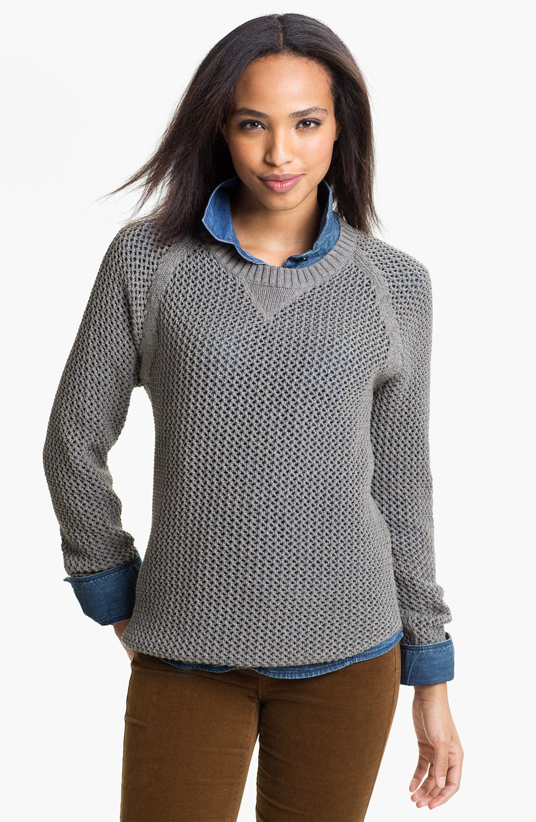 Alternate Image 1 Selected - Only Mine Open Stitch Sweater
