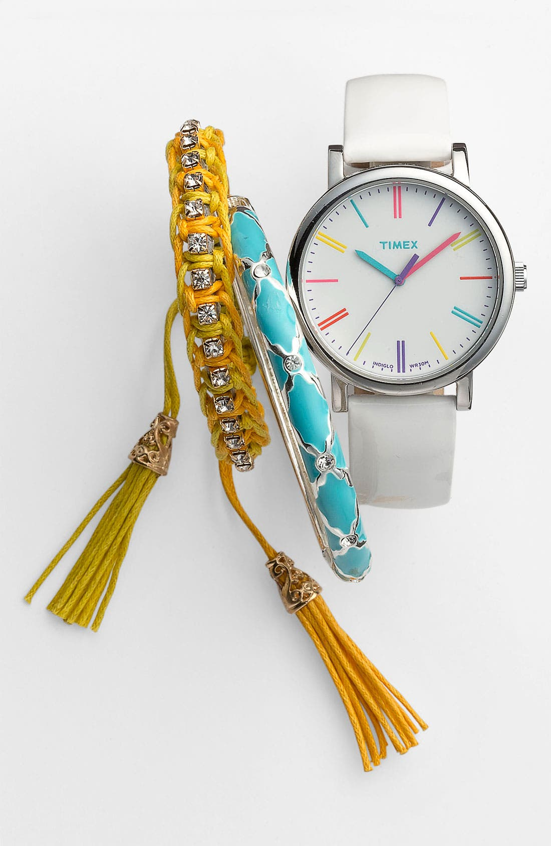 Alternate Image 1 Selected - Timex® Watch, Sequin Bangle & Cara Accessories Bracelet