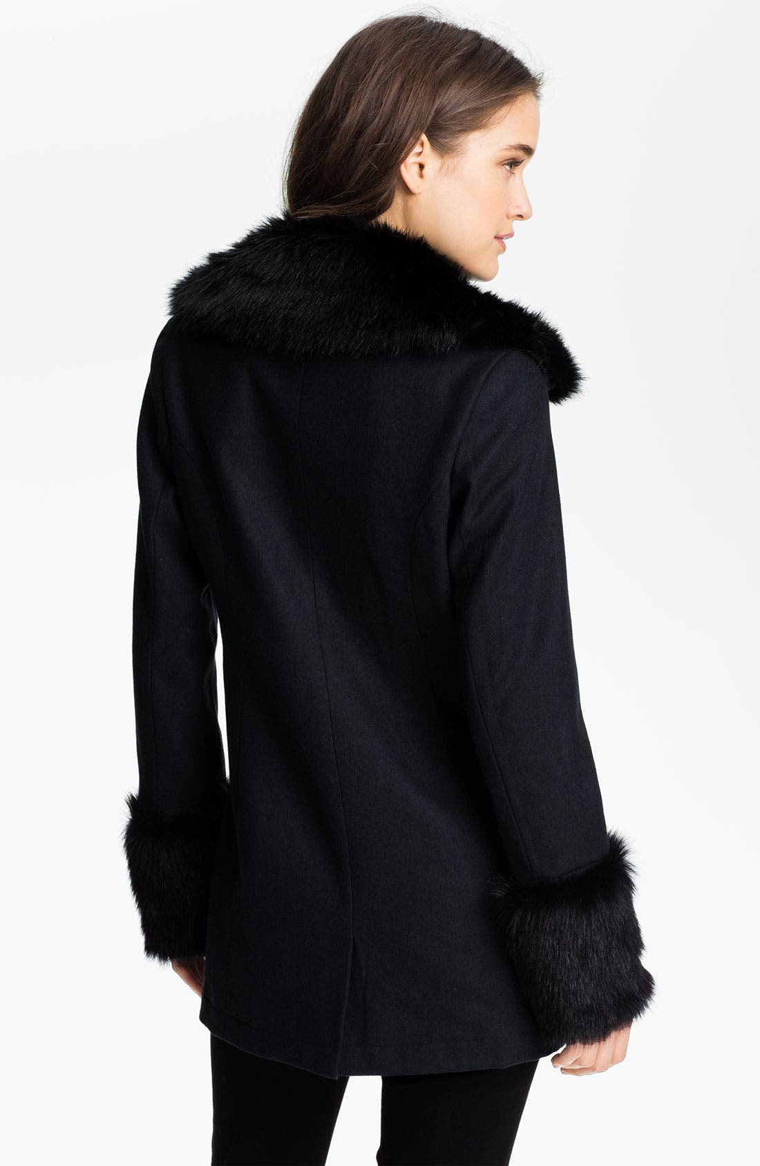 Alternate Image 2  - Ella Moss 'Salem' Faux Fur Trim Jacket