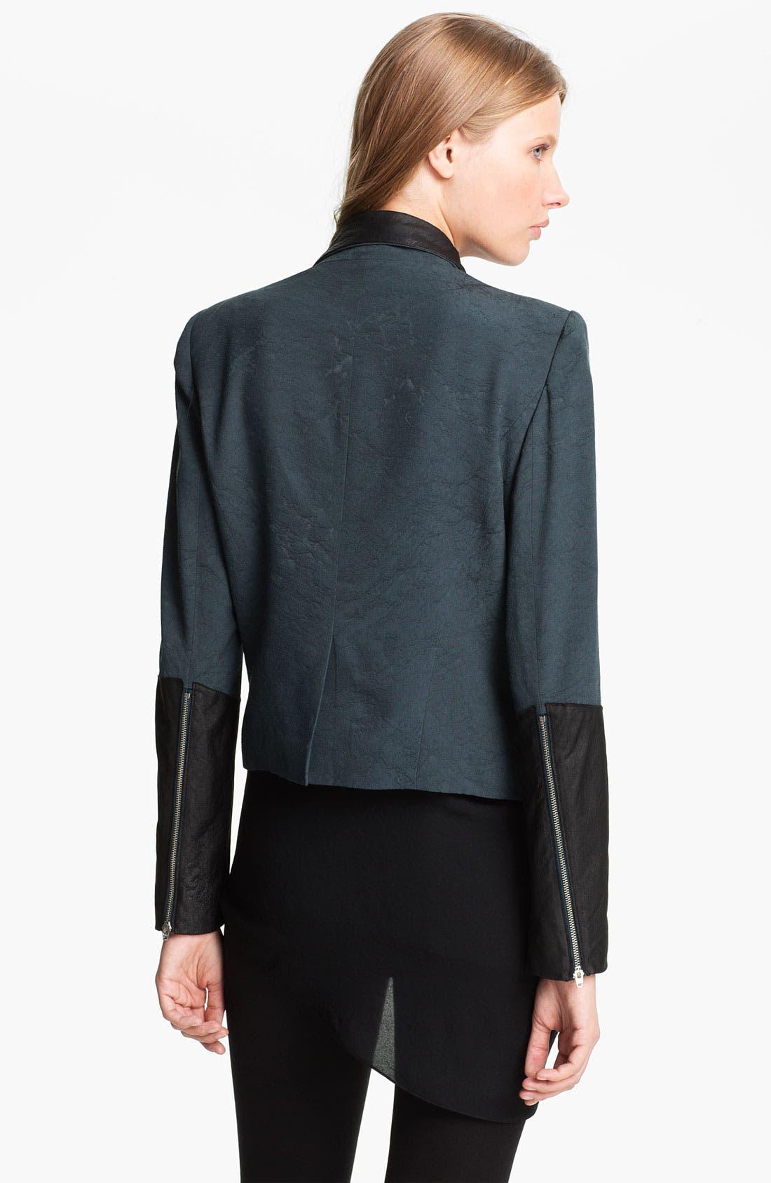 Alternate Image 2  - Helmut Lang 'Perma' Jacquard & Leather Jacket