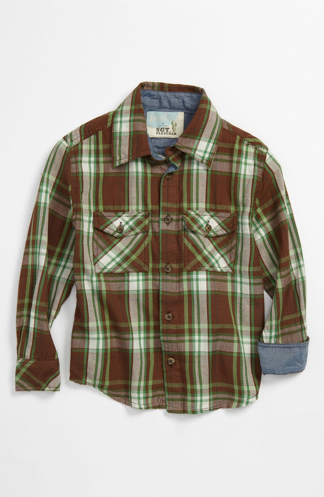 Main Image - Peek 'Big Horn' Plaid Shirt (Toddler, Little Boys & Big Boys)