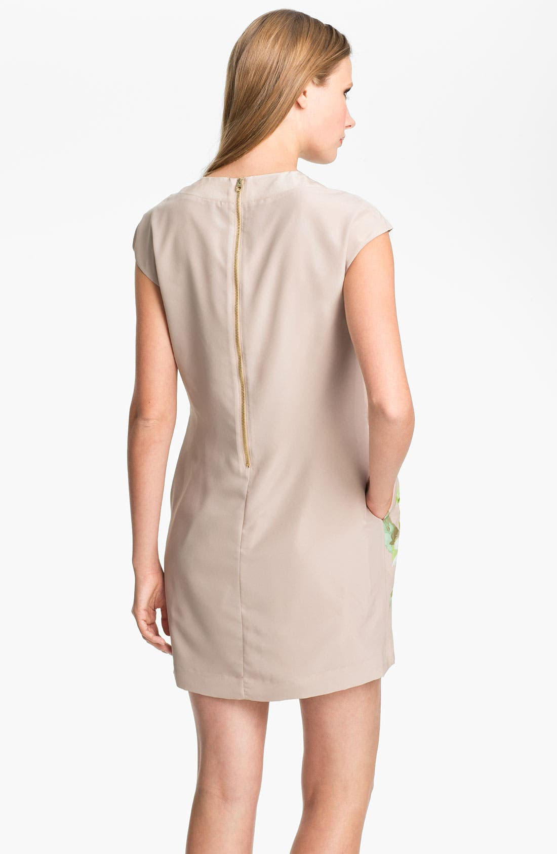 Alternate Image 2  - Ted Baker London Foxglove Print Silk Dress