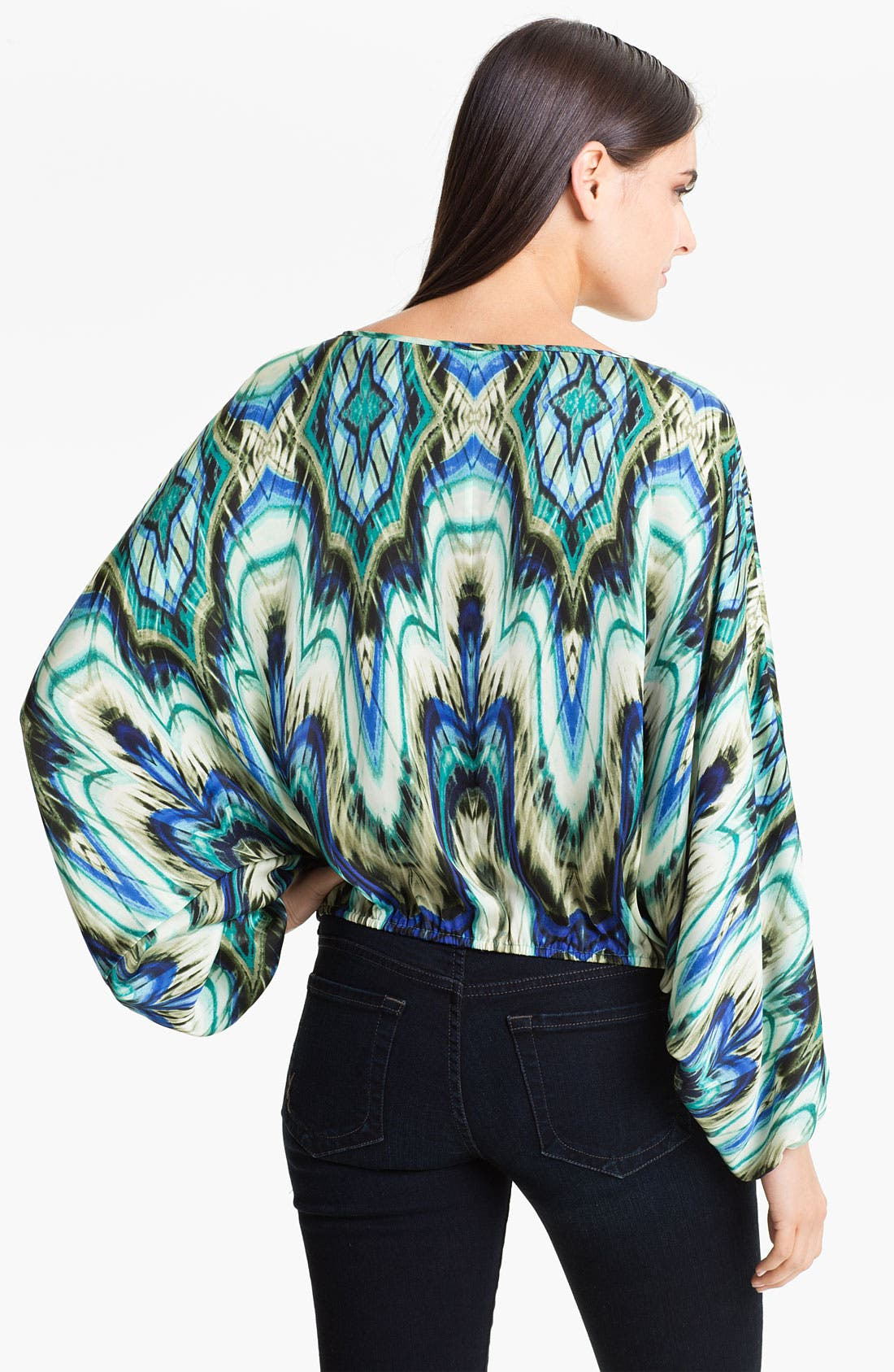 Alternate Image 2  - Vince Camuto Abstract Print Peasant Blouse