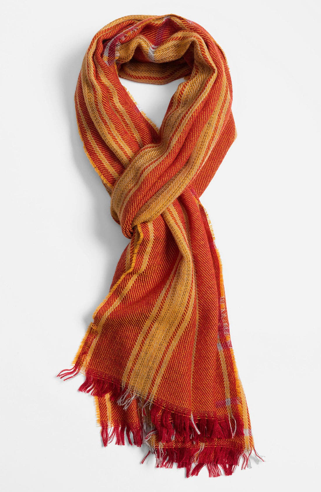 Alternate Image 1 Selected - BOSS Orange Check Scarf